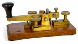 A typical British Post Office Morse key - much heavier than some of the American keys as it was not used for portable operation.