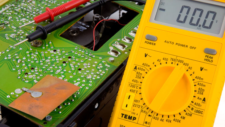 Transistor circuit test and fault finding using a multimeter
